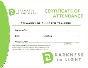 Free Download PDF Books, Beautiful Certificate of Attendance Template