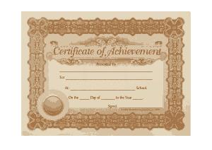 Free Download PDF Books, Blank Achievement Certificate Template