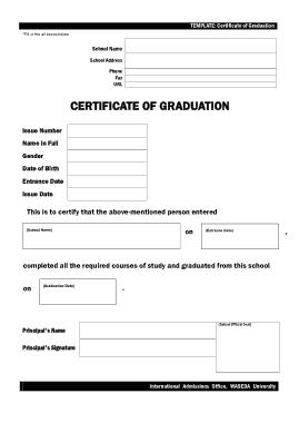 Free Download PDF Books, Blank Graduation Certificate Template