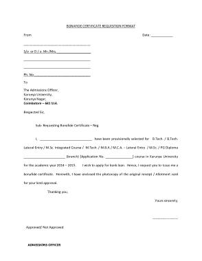 Free Download PDF Books, Bonafide Certificate Request Letter Format Template