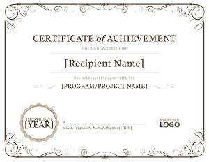 Microsoft Certificate of Achievement Template