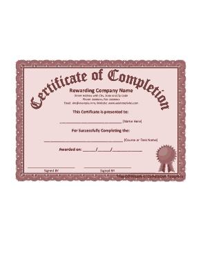 Microsoft Certificates Free Template