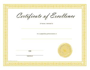 Printable Blank Certificate Template
