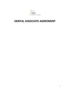 Associate Dentist Employment Agreement Template