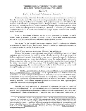 Free Download PDF Books, Employment Dental Agreement Template