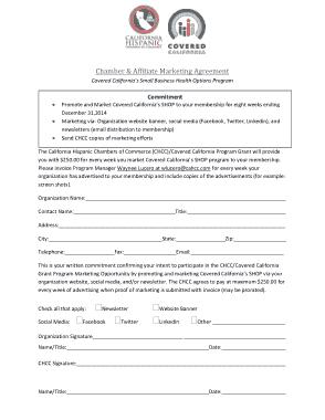 Free Download PDF Books, Social Media Affiliate Marketing Agreement Template