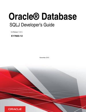 Oracle Database Sqlj Developers Guide