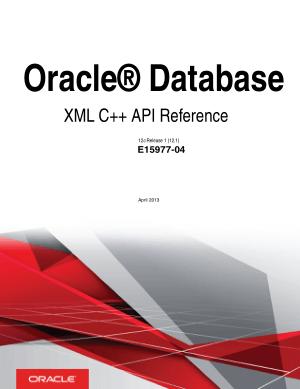 Oracle Database Xml C++ API Reference