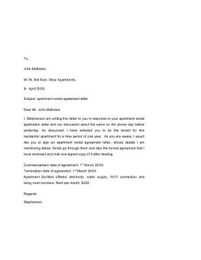 Free Download PDF Books, Basic Apartment Rental Agreement Template