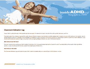 Free Download PDF Books, Behavior Log For Classroom Template