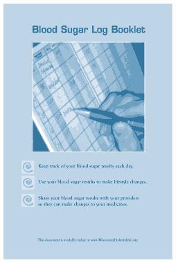 Free Download PDF Books, Blood Sugar Log Booklet Template