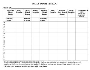 Daily Diabetes Log Template