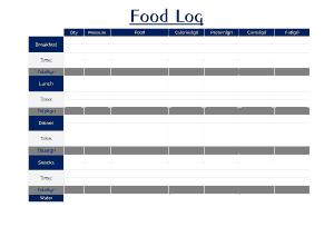 Food Log Template