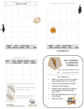 Free Download PDF Books, Blank Running Log Template