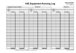 Free Download PDF Books, Equipment Running Log Template