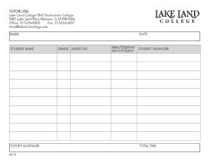Free Download PDF Books, Basic Tutor Log Template