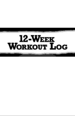 Free Download PDF Books, 12 Week Workout Plan Log Sheet Template