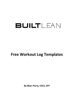 Free Download PDF Books, Free Workout Log Pdf Template