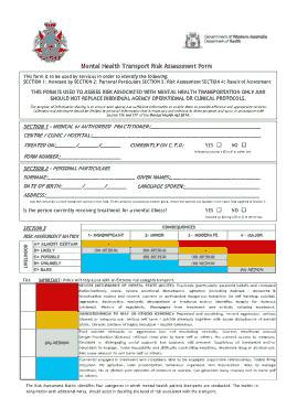 Free Download PDF Books, Mental Health Transport Risk Assessment Form Template