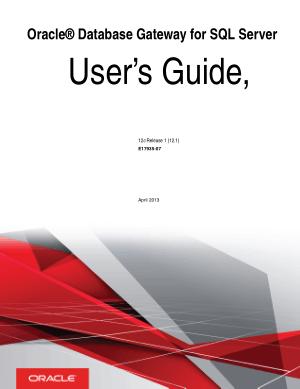 Oracle Database Gateway For SQL Server User Guide