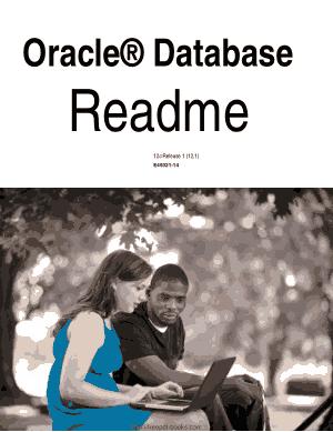 Oracle Database Readme