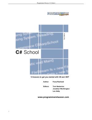 C# eBook, Pdf Free Download