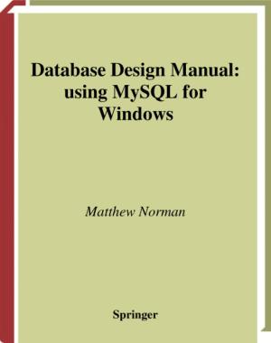 Database Design Manual Using MySQL For Windows, Pdf Free Download