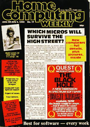 Home Computing Weekly Technology Magazine 017