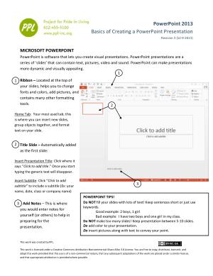 Microsoft Powerpoint 2013basics Of Creating A Powerpoint Presentation