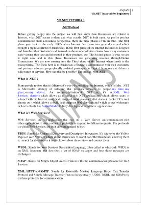 Free Download PDF Books, VB.Net Tutorial For Beginners