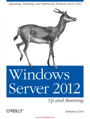 Windows Server 2012 Up and Running