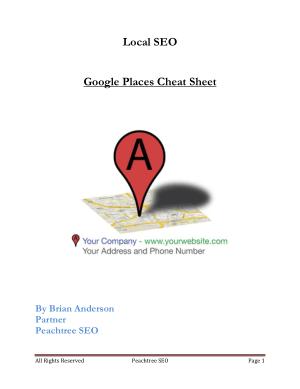 Google Places Cheat Sheet – PDF Books
