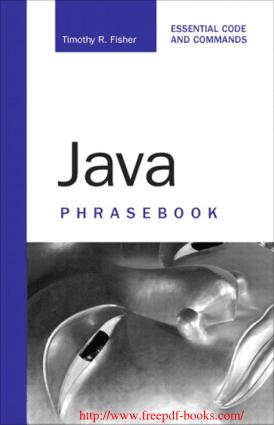 Java Phrasebook –, java Tutorial
