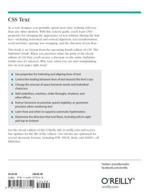 Free Download PDF Books, CSS Text – PDF Books