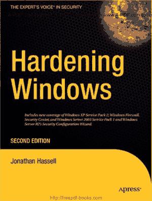 Hardening Windows Second Edition