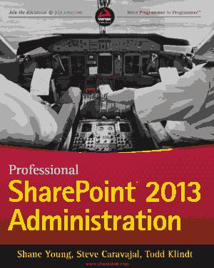 Professional SharePoint 2013 Administration – Free PDF Books