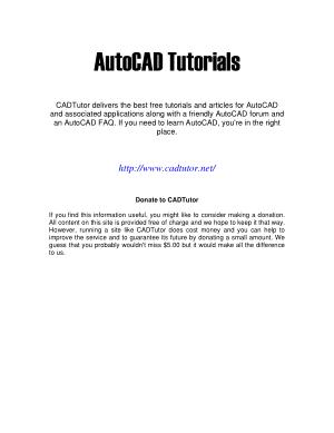 AutoCAD Tutorials, Drive Book Pdf
