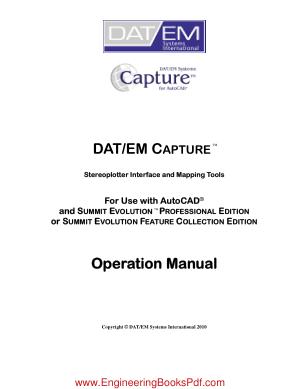 DATEM Capture for AutoCAD