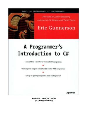 A Programmer Introduction to C# – FreePdf-Books.com